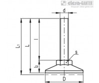 Опоры с неподвижной шпилькой LX-AS-SST – Чертеж 1