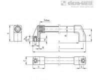 Трубчатые ручки M.1043-BM-EP – Чертеж 1