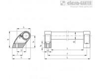 Выносные трубчатые ручки M.1053-CLEAN – Чертеж 1