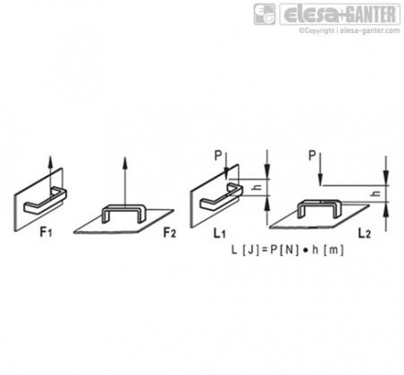 Мостовидные ручки M.443-N-CH – Чертеж 2