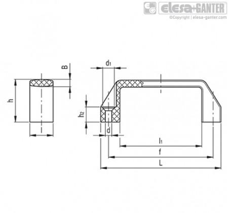 Мостовидные ручки M.443-SH – Чертеж 1