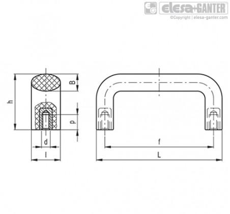 Мостовидные ручки M.643R – Чертеж 1