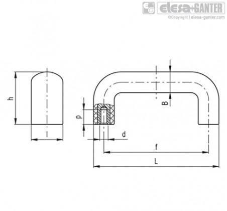 Мостовидные ручки M.843-CLEAN – Чертеж 1