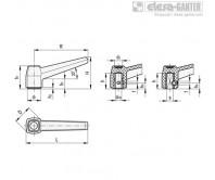 Ручки рычажного типа MF-N – Чертеж 1