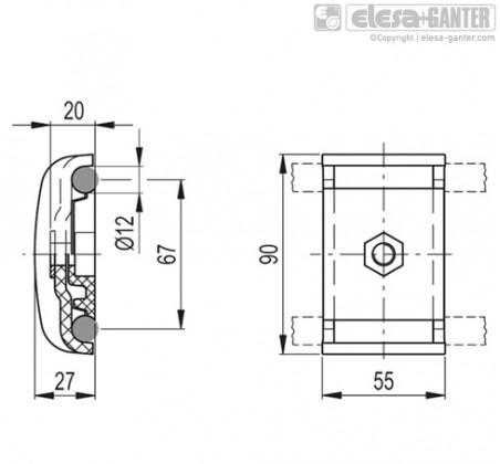 Зажимы направляющей MPG-2C – Чертеж 1