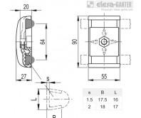 Зажимы направляющей MPG-2T – Чертеж 1