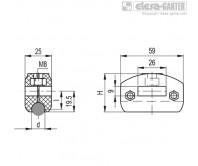 Зажимы направляющей MPG-C – Чертеж 1