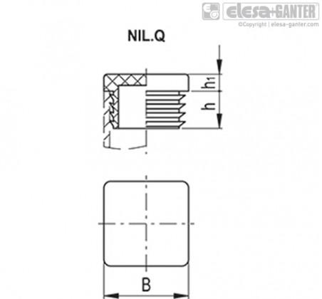 Заглушки для ребристых труб NIL.Q – Чертеж 1