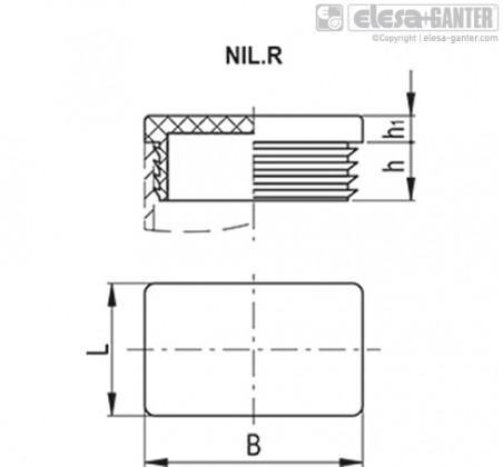 Заглушки для ребристых труб NIL.R – Чертеж 1
