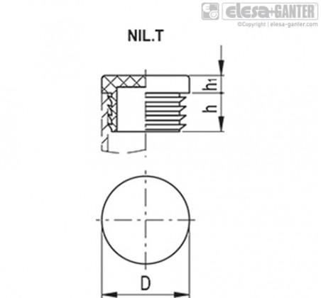 Заглушки для ребристых труб NIL.T – Чертеж 1