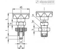 Штифты стопорные (фиксаторы) PMT.110-AK – Чертеж 1