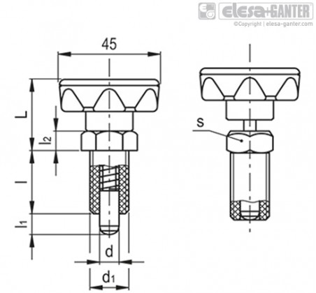 Штифты стопорные (фиксаторы) PMT.110-SST-A – Чертеж 1