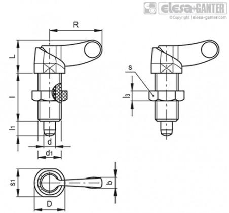 Штифты стопорные (фиксаторы) PMT.200-AK – Чертеж 1
