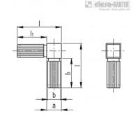 Соединители квадратных труб STC-2A-2W – Чертеж 1