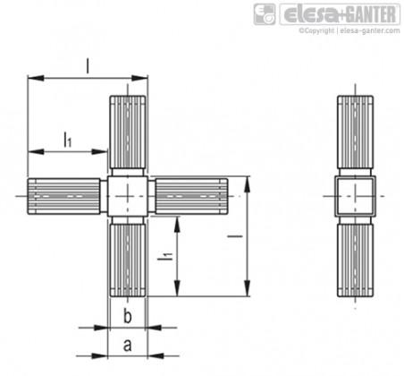 Соединители квадратных труб STC-2A-4W – Чертеж 1