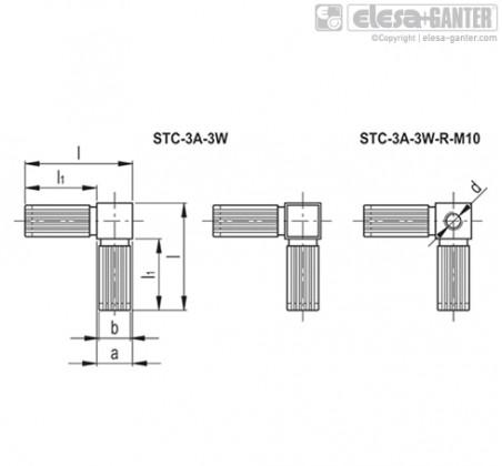 Соединители квадратных труб STC-3A-3W – Чертеж 1