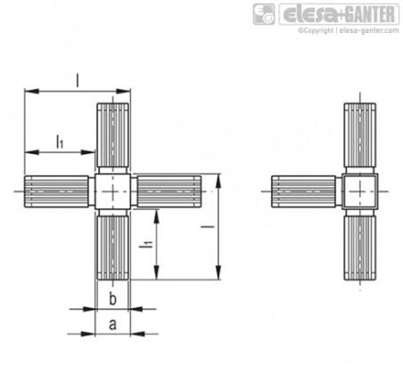 Соединители квадратных труб STC-3A-5W – Чертеж 1