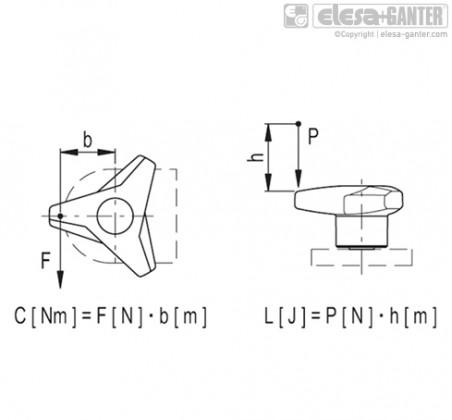 Трёхлепестковые ручки VB.839-SST – Чертеж 2