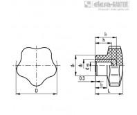 Лепестковые поворотные ручки VC.192-A – Чертеж 1