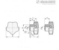 Лепестковые поворотные ручки VC.192-B – Чертеж 1