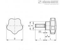 Лепестковые поворотные ручки VC.192-p – Чертеж 1