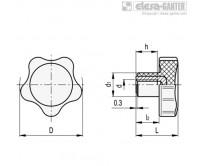 Цельнолитые лепестковые ручки VC.692-SST – Чертеж 1