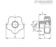 Лепестковые поворотные ручки VCT-AZ – Чертеж 1