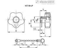 Лепестковые поворотные ручки VCT-B-LP – Чертеж 1