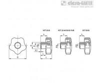 Лепестковые поворотные ручки VCT-B – Чертеж 1