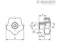 Лепестковые поворотные ручки VCT-SST-FP – Чертеж 1