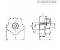 Лепестковые поворотные ручки VCT.FP – Чертеж 1