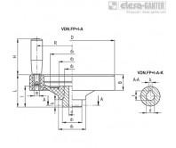 Монолитные маховики VDN.FP+I-A – Чертеж 1