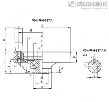 Монолитные маховики VDN.FP+I-SST-A – Чертеж 1