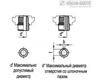 Монолитный маховик VDN.FP+I с вращающейся ручкой | Elesa+Ganter Украина  – Чертеж 2