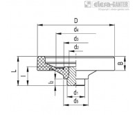 Монолитные маховики VDN.FP-SST – Чертеж 1