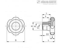Лепестковые поворотные ручки VL.155-A – Чертеж 1