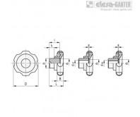 Лепестковые поворотные ручки VL.640 FP – Чертеж 1