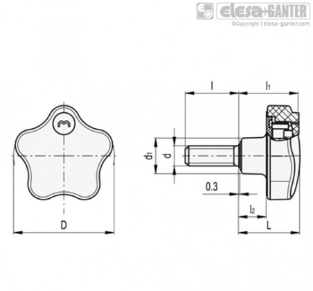Лепестковые ручки с функцией защиты VLS-SST-p – Чертеж 1