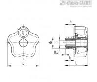 Лепестковые ручки с функцией защиты VLSK-B – Чертеж 1