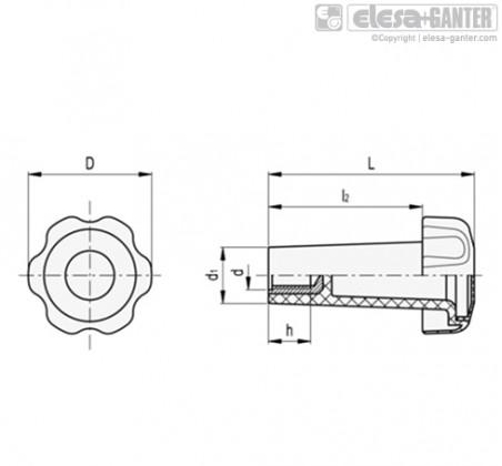 Лепестковые поворотные ручки VTL-B – Чертеж 1