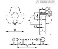 Ручки цельнолитые VTT-B-LP – Чертеж 1