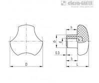 Ручки цельнолитые VTT-CLEAN – Чертеж 1