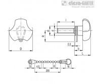 Ручки цельнолитые VTT-SST-p-LP – Чертеж 1