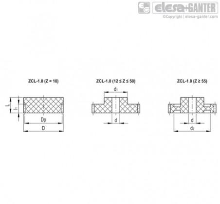 Прямозубые передачи ZCL-1.0 – Чертеж 1