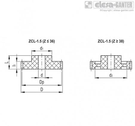 Прямозубые передачи ZCL-1.5 – Чертеж 1