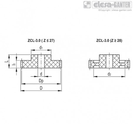 Прямозубые передачи ZCL-3.0 – Чертеж 1